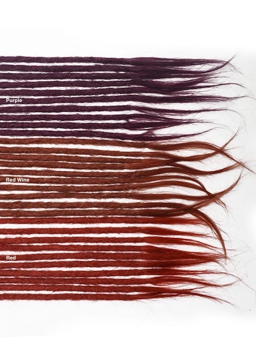 red purple human hair dreadlocks extensions