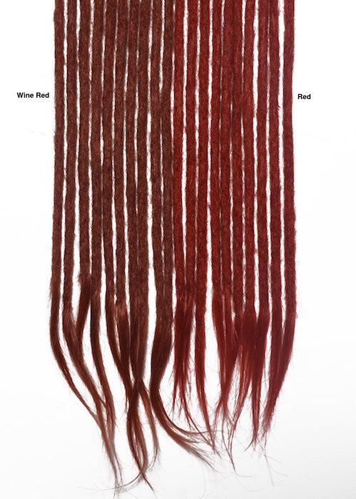 vibrant red human hair dreadlocks extensions