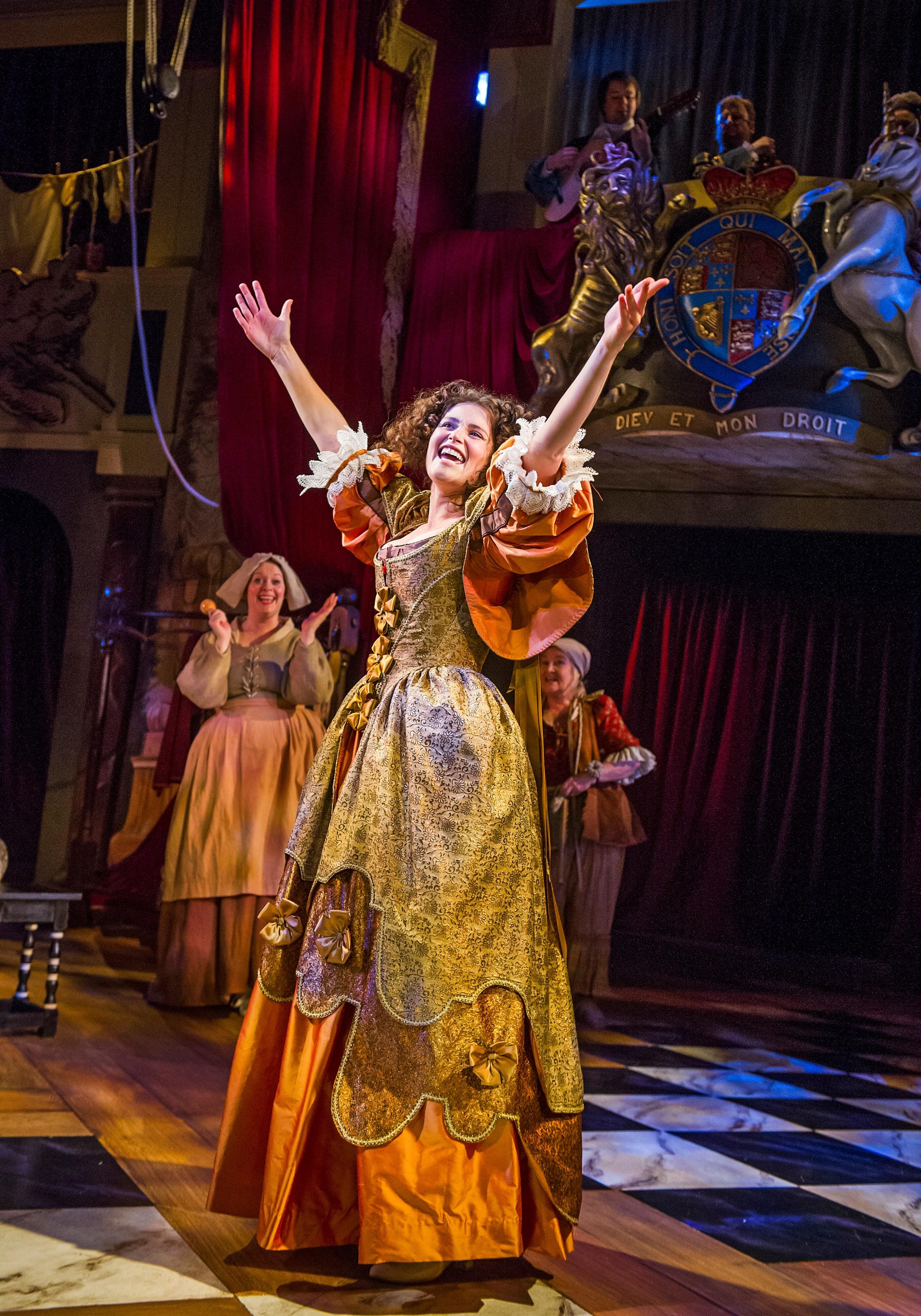 Gemma Arterton (Nell Gwynn) in Nell Gwynn at the Apollo Theatre. Photo credit Tristram Kenton (1).jpg