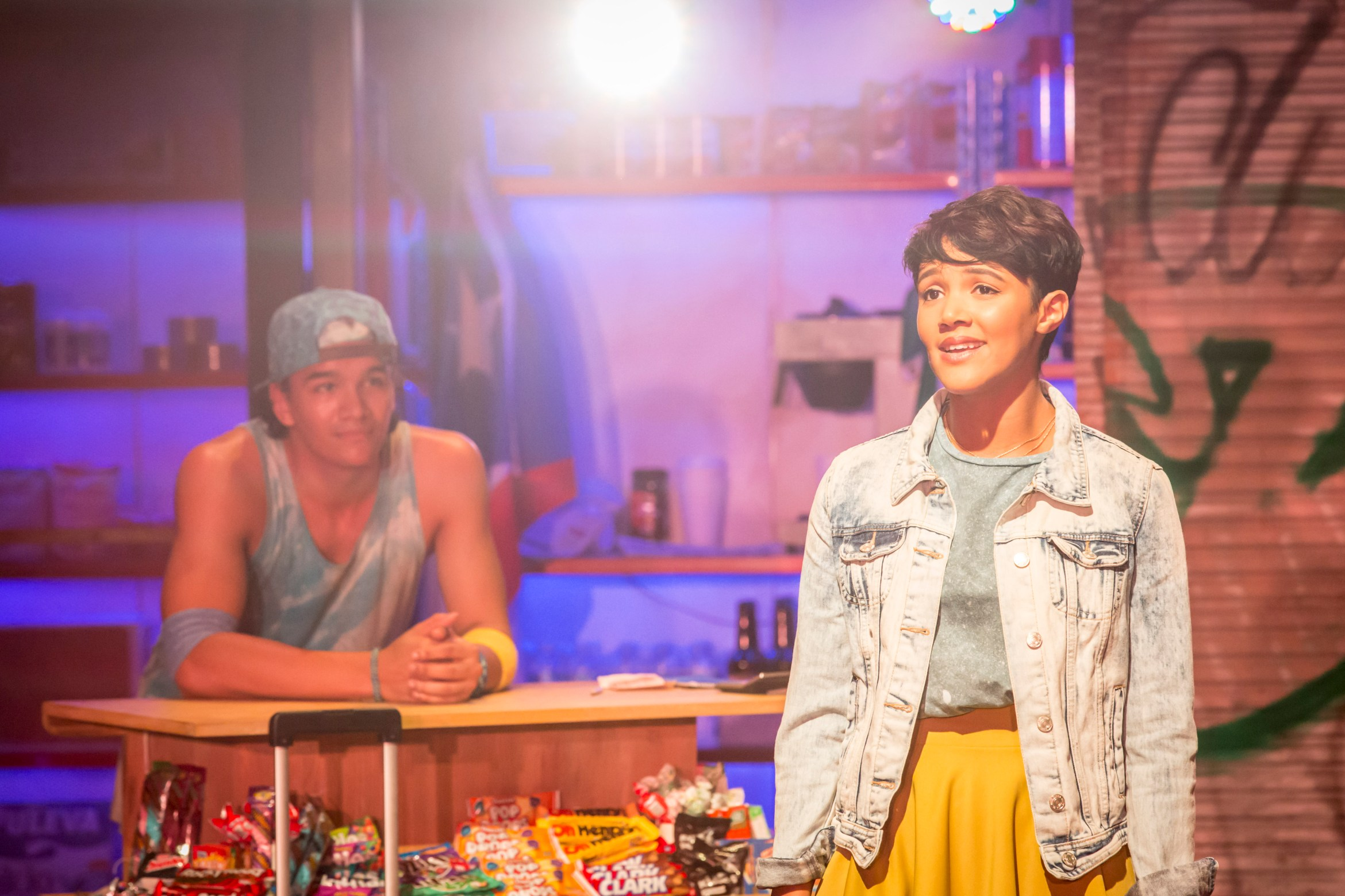 Cleve September as Sonny and Lily Frazer as Nina in In The Heights. Photo Credit Johan Persson.jpg
