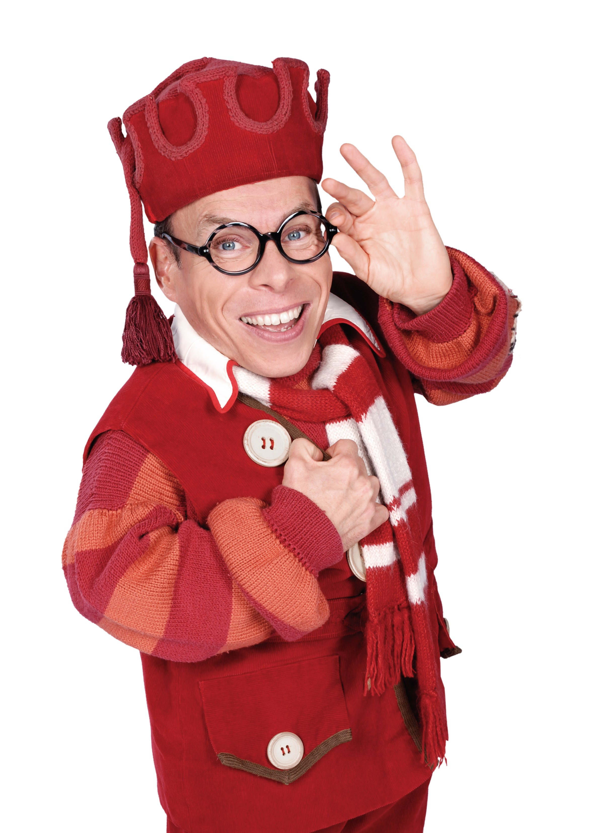 Warwick Davis as Prof at the New Victoria Theatre, Woking Pantomime.jpg