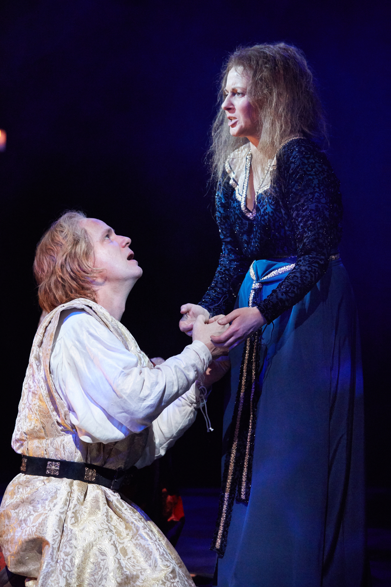 Jamie Ballard and Lisa Dillon. King John at The Rose Theatre.  Photo by Mark Douet _31B3939.jpg