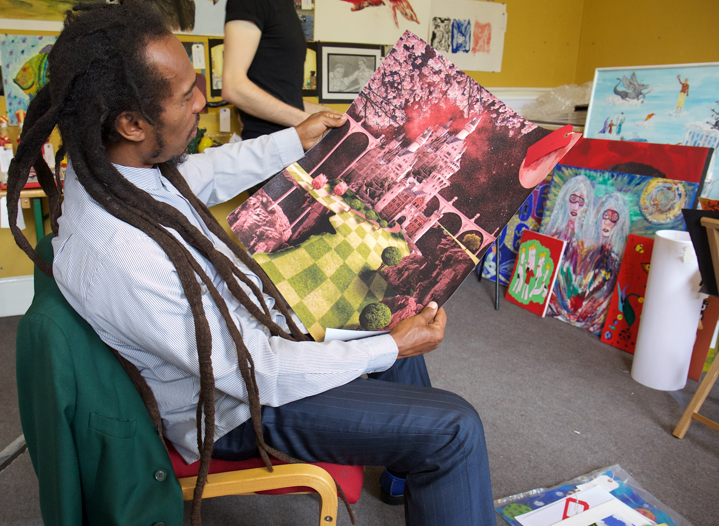 Benjamin Zephaniah at the Koestler Trust courtesy the Koestler Trust.jpg