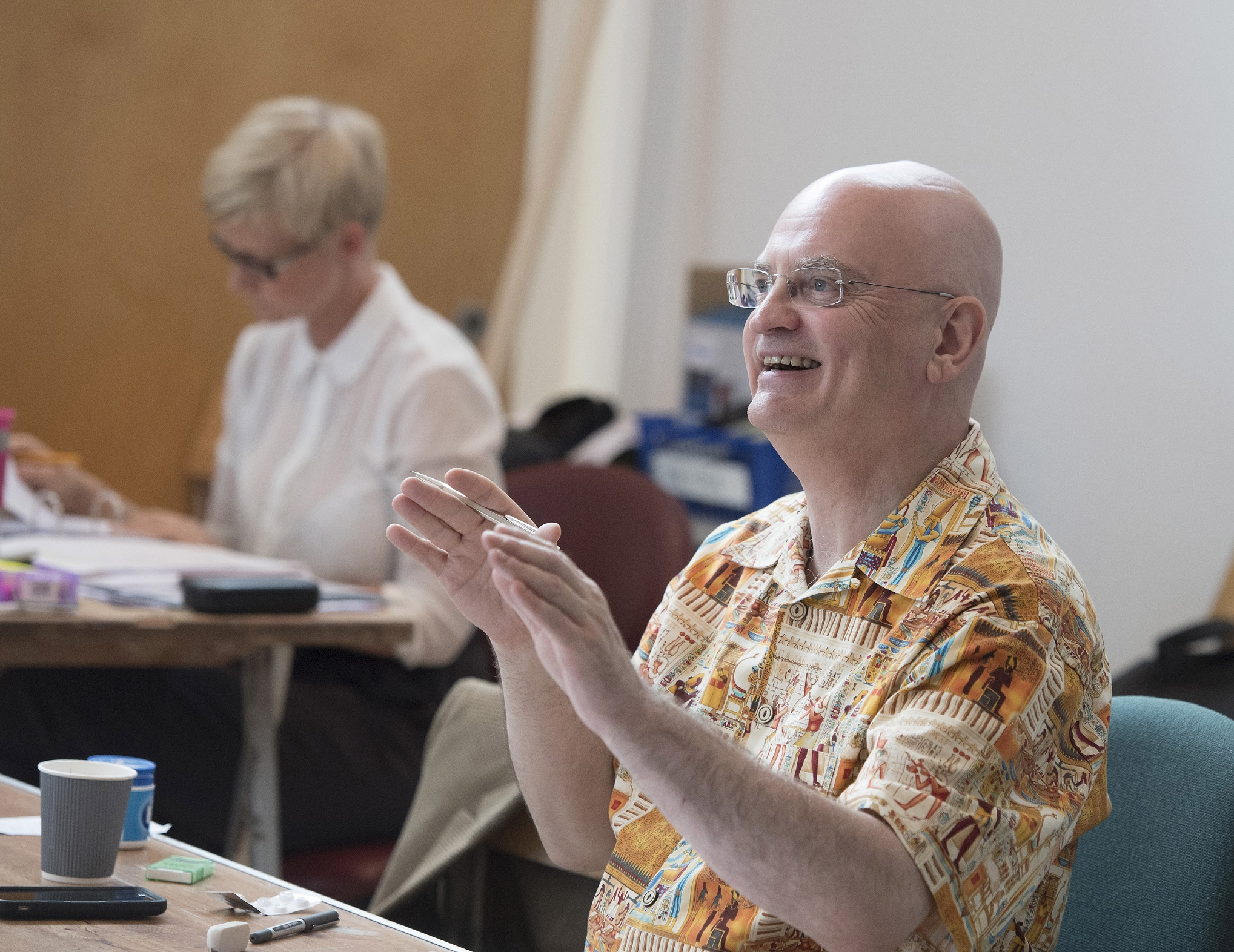 Director Terry Johnson in rehearsals for The Libertine. Credit Alastair Muir.jpg.jpg