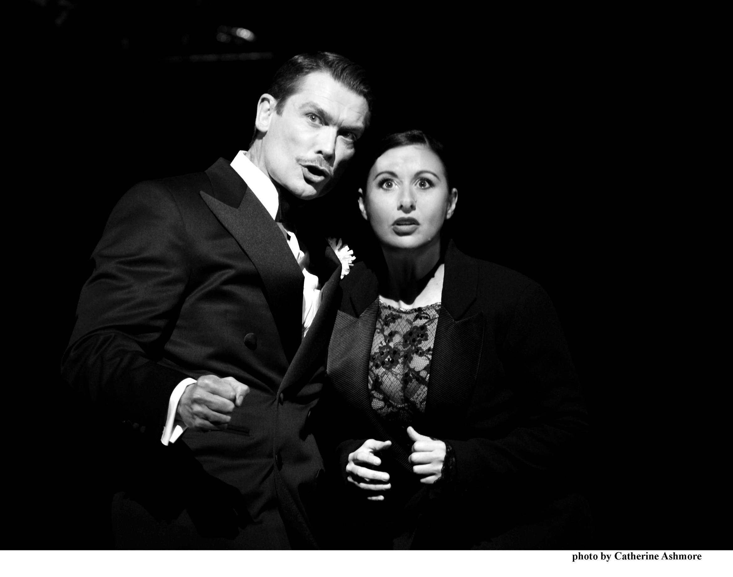 CHICAGO. John Partridge as %27Billy Flynn%27 and Hayley Tamaddon as %27Roxie Hart%27. Photo by Catherine Ashmore.jpg