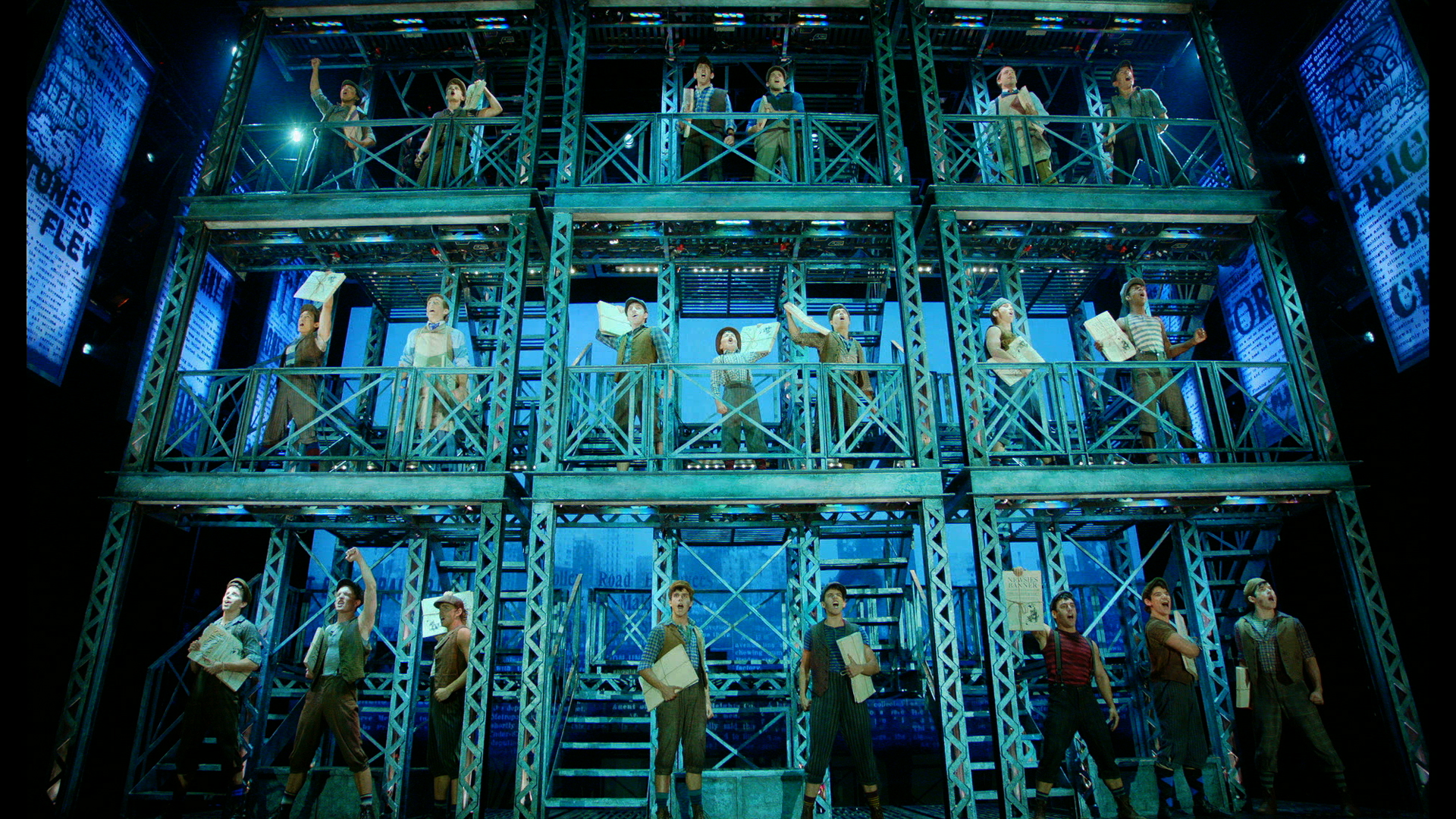 Disney's Newsies The Broadway Musical - The Newsboys. Photo by Disney Theatrical Productions.jpeg