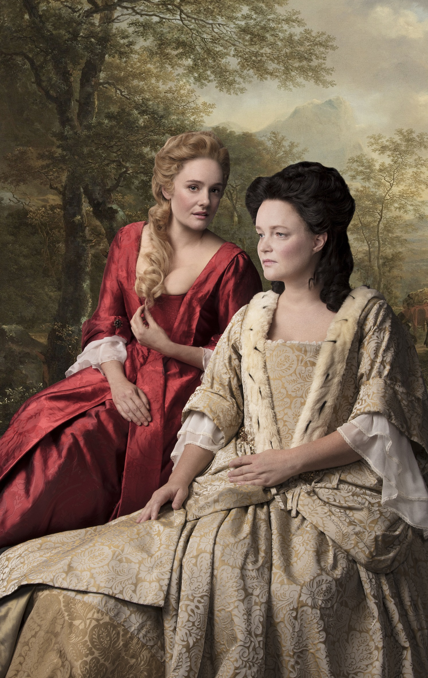 romola-garai-sarah-duchess-of-malborough-and-emma-cunniffe-queen-anne-in-queen-anne-credit-darren-bell-jpg