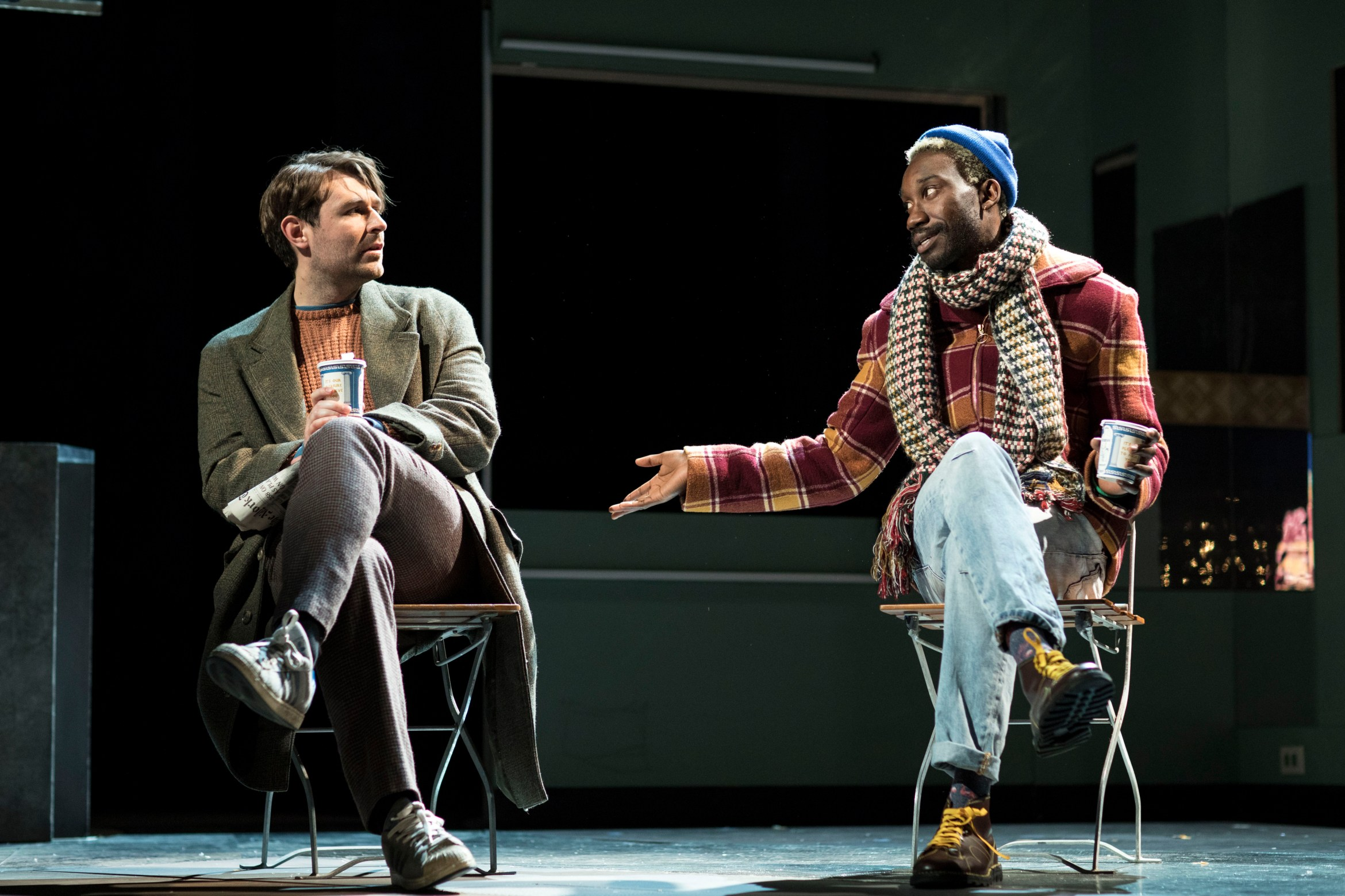 14. James McArdle (Louis) and Nathan Stewart-Jarrett (Belize) in Angels in America - Millennium Approaches (c) Helen Maybanks.jpg