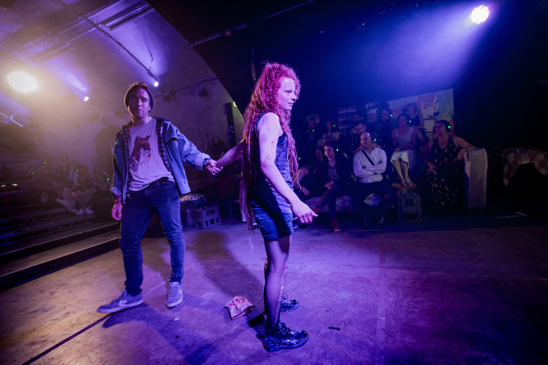 VIXEN 2 Robin Bailey as Fox Rosie Lomas as Vixen Photo Robert Workman.jpg
