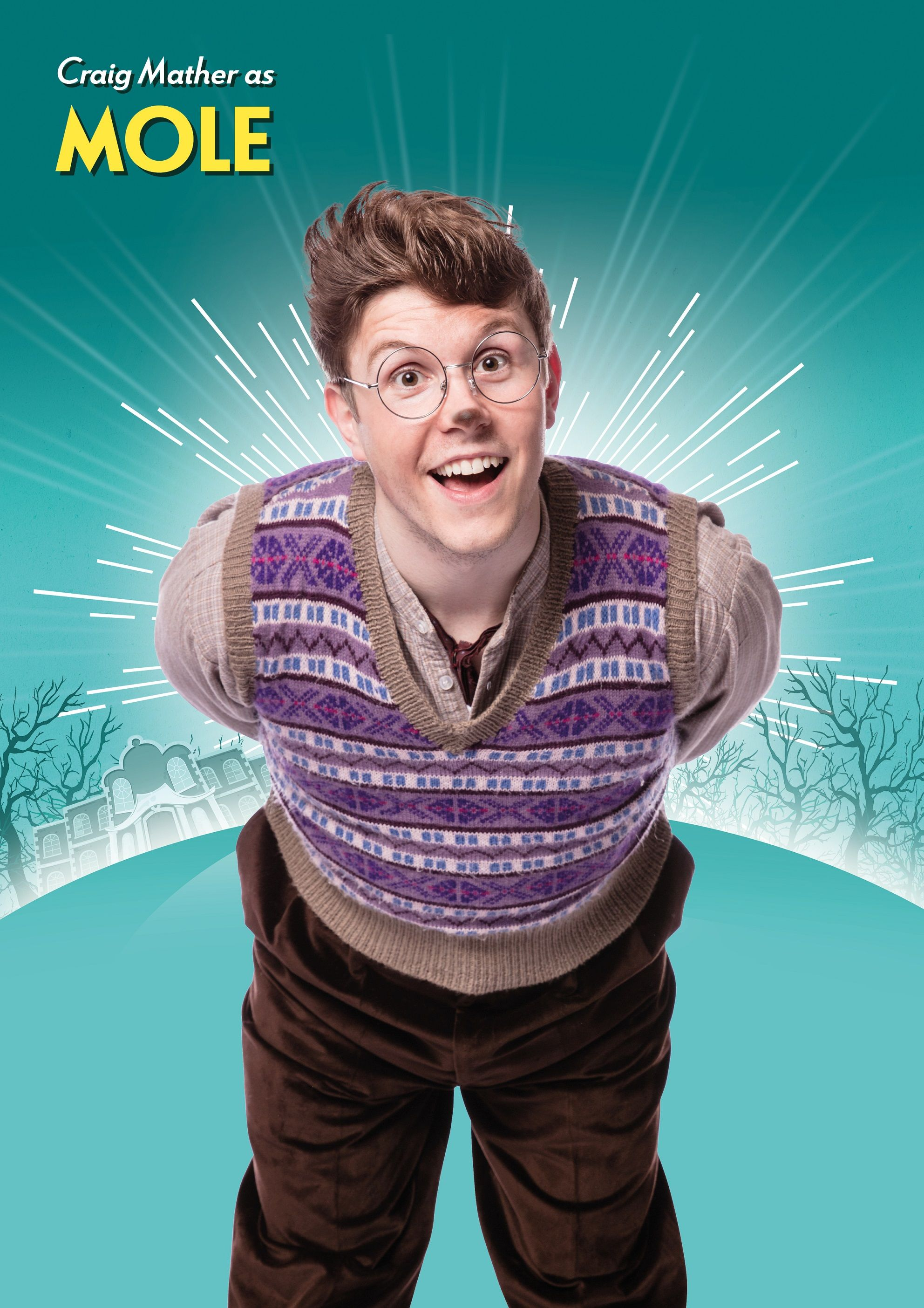 Craig Mather as Mole in The Wind in the Willows Credit Darren Bell