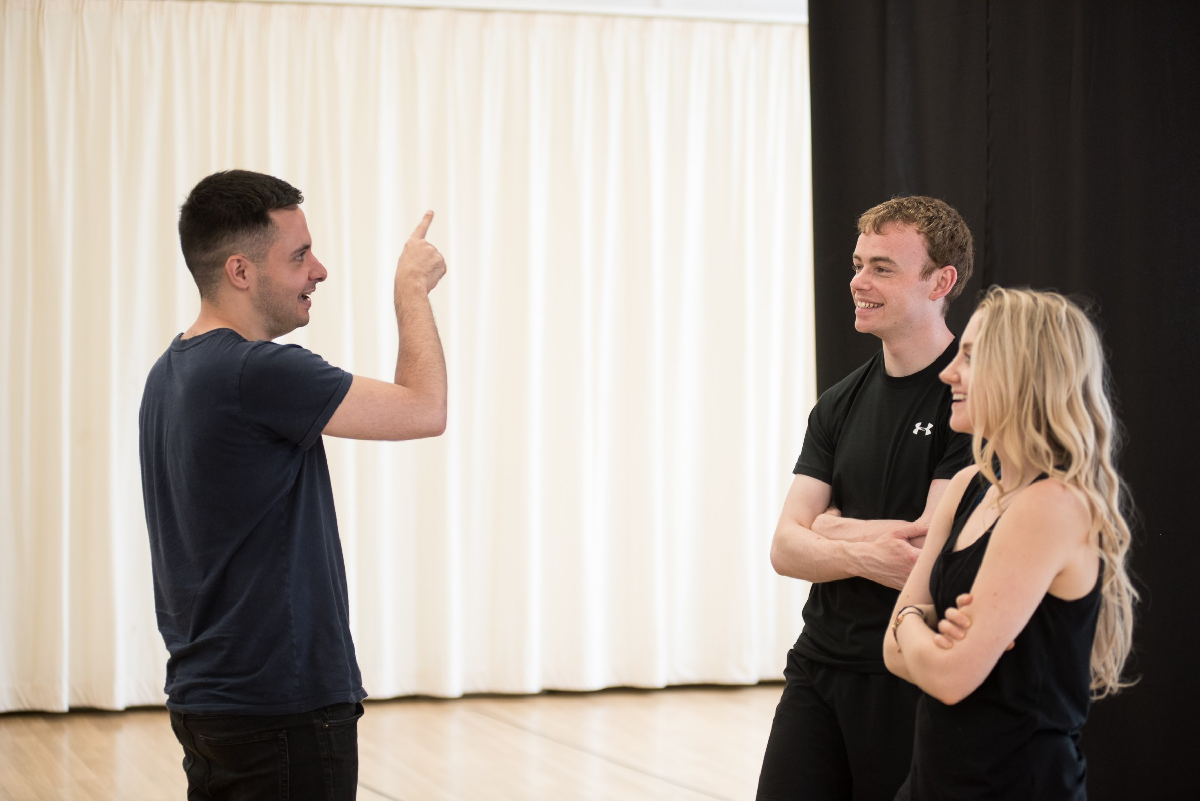 Disco Pigs - Director, John Haidar, Colin Campbell and Evanna Lynch - photos by Savannah Photographic