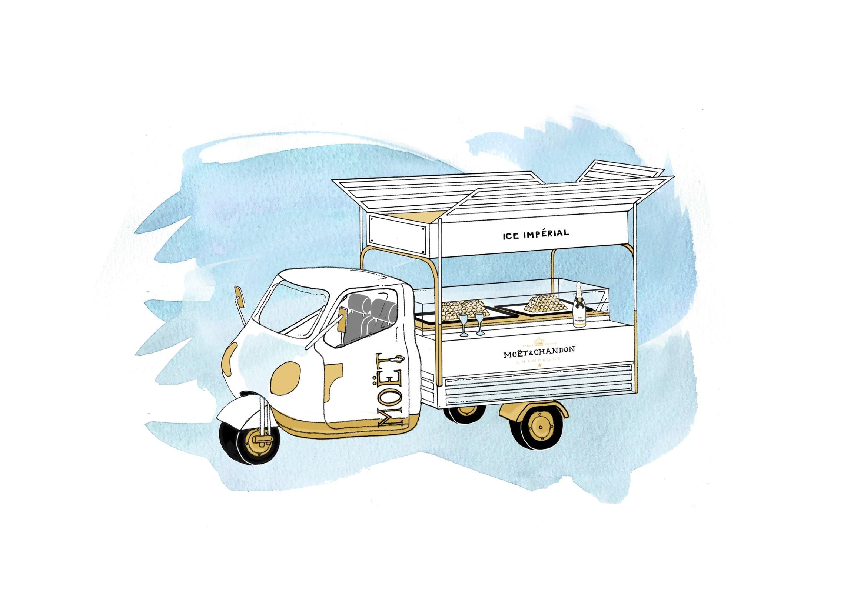 Moet Ice Truck at Bluebird - Illustration