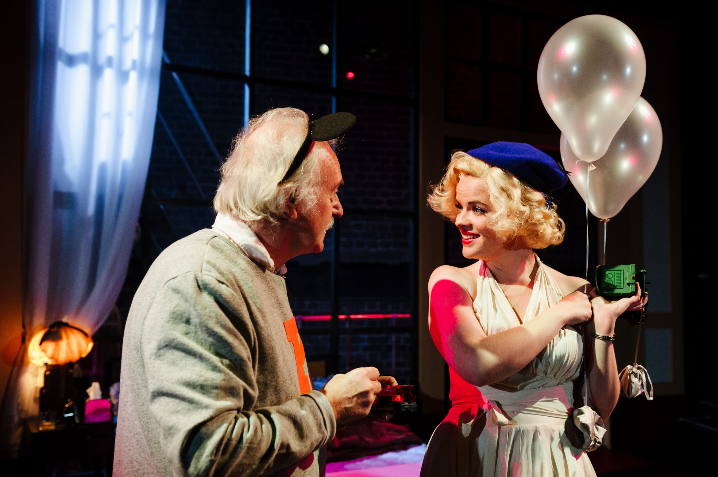 Insignificance - Simon Rouse and Alice Bailey Johnson, Arcola Theatre (courtesy of Alex Brenner).jpg