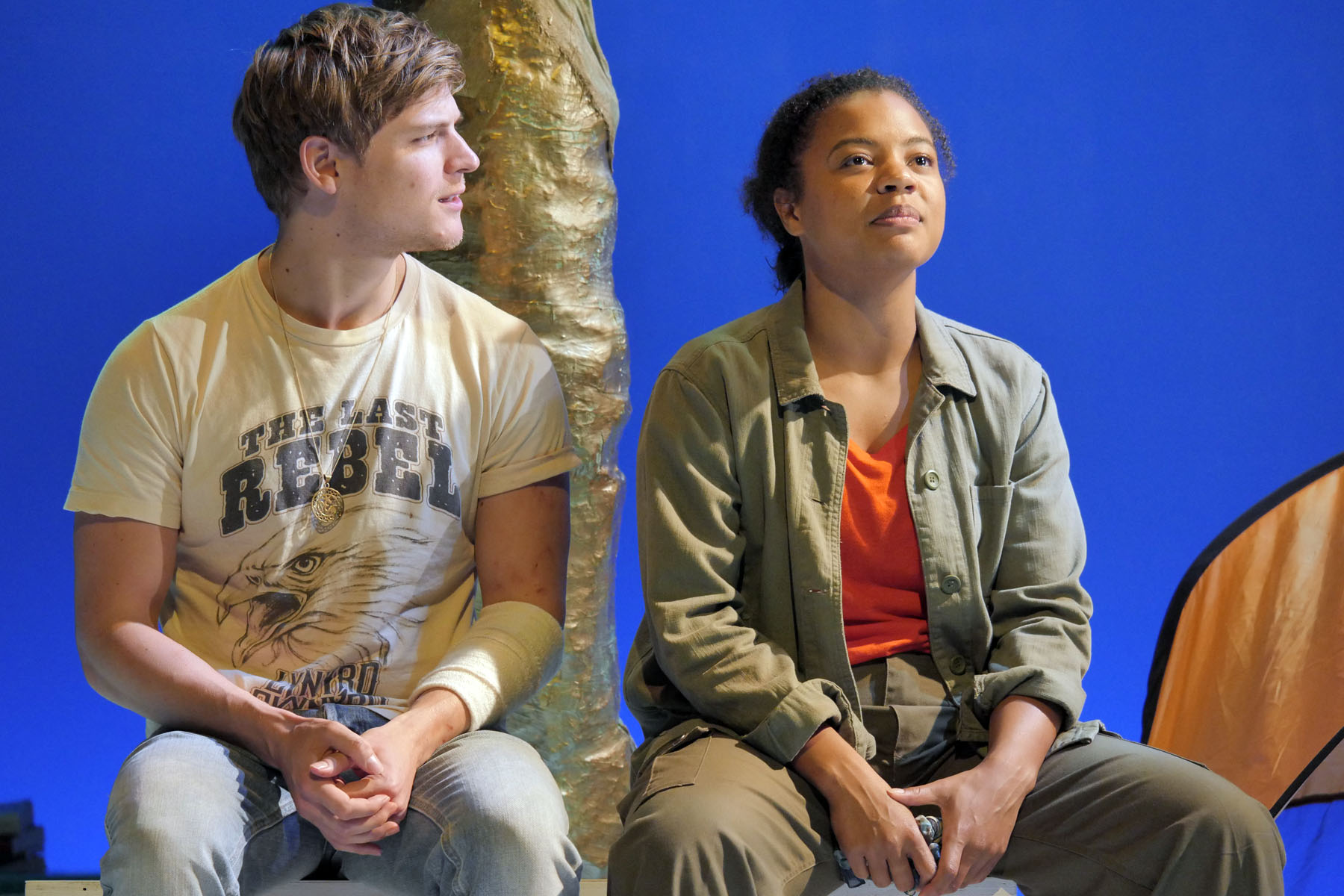 As You Like It at Theatre By The Lake. Nathan Hamilton (Orlando) and Jessica Hayles (Rosalind). Photo credit Keith Pattison (3)