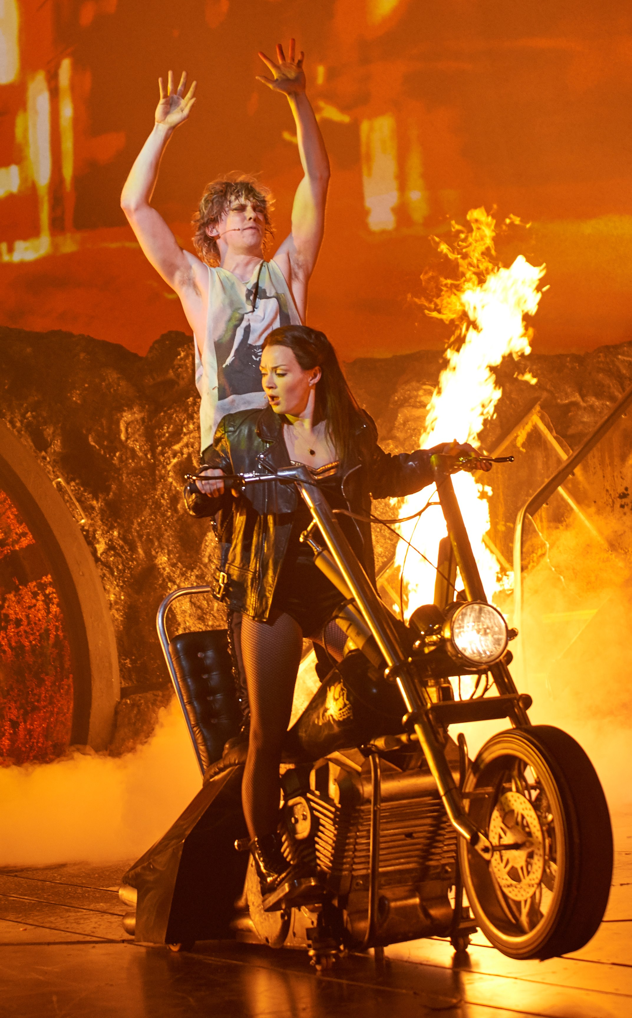 Andrew Polec as Strat & Christina Bennington as Raven in BAT OUT OF HELL credit Specular (3).jpg