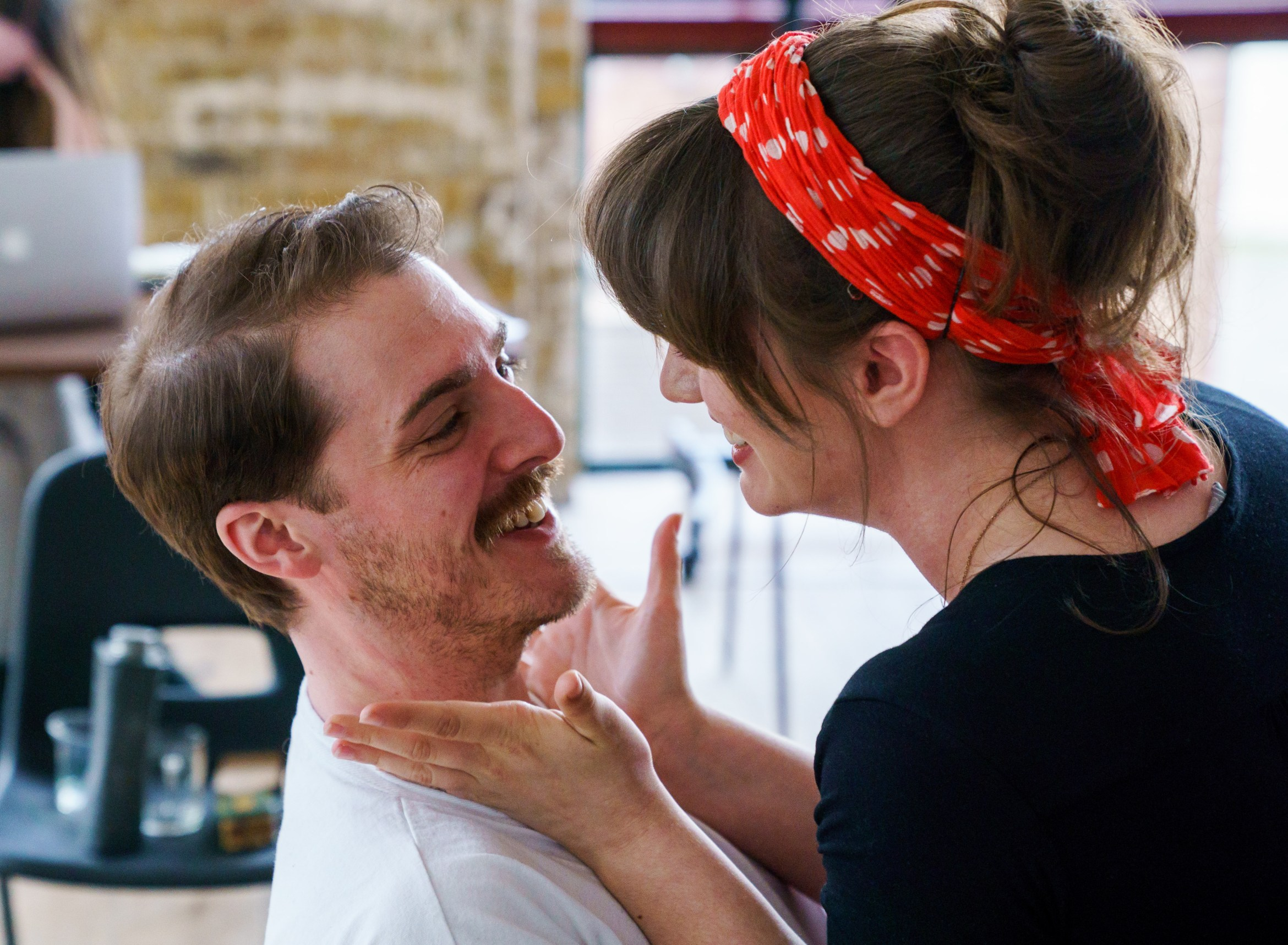 06 (c) Alex Brenner, no use without credit, Harry Hepple and Ellie Nunn in rehearsals for The Daughter-in-Law at Arcola.jpg