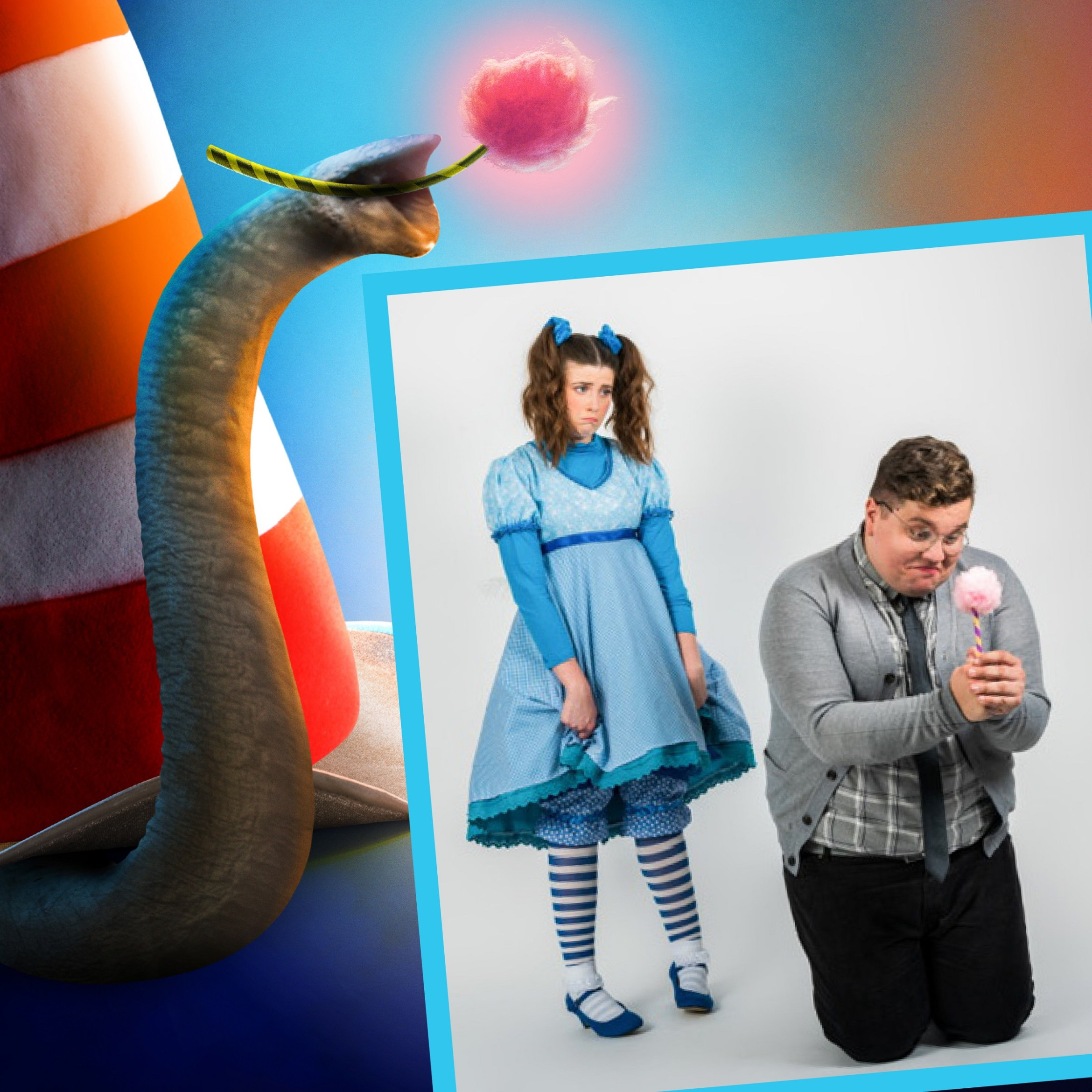 Seussical The Musical, Southwark Playhouse - Amy Perry (Gertrude) and Scott Paige (Horton) - courtesy of Adam Trigg