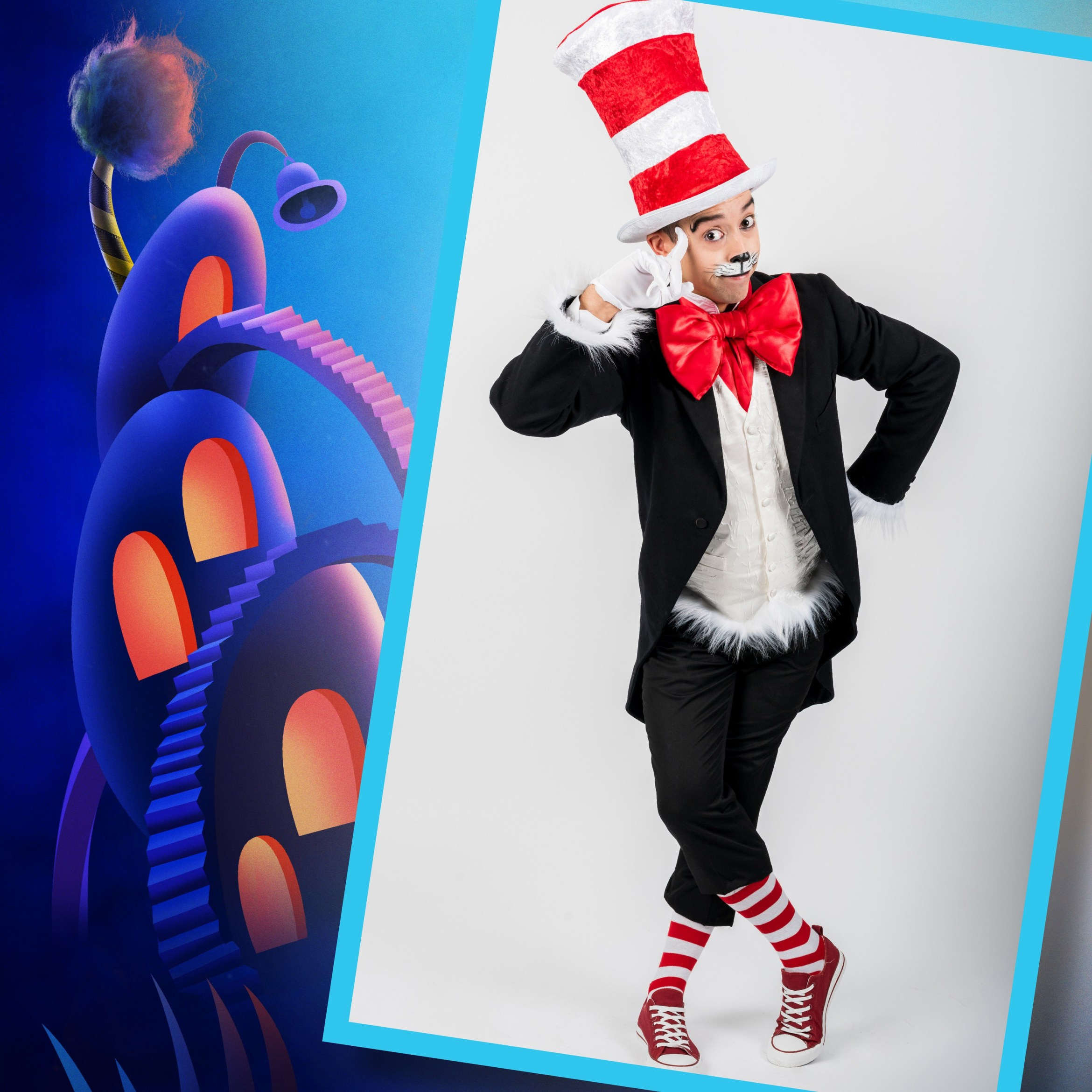 Seussical The Musical, Southwark Playhouse -  Marc Pickering (Cat in the Hat) - courtesy of Adam Trigg.jpg
