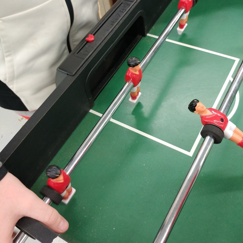 Middle Playing Foosball Unwifedmotherexpletive
