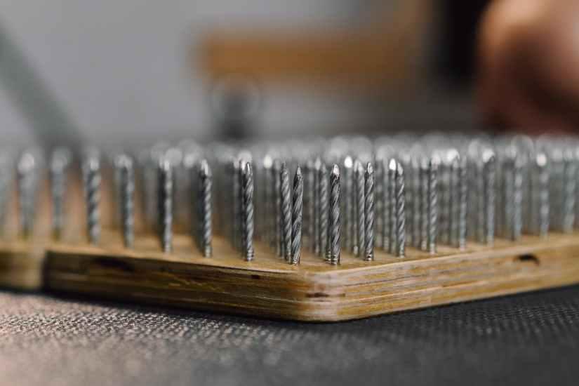 sharp nails on sadhu board for meditation