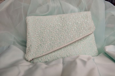 Bridesmaid fold over clutch