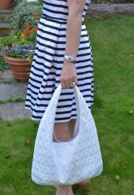White honeymoon bag