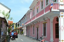 The pretty painted houses of Old Phuket Town, formerly houses of disrepute!
