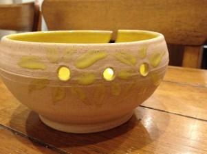 Hand thrown yarn bowl