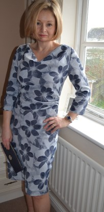 8. Burda syle Cowl Dress 102012
