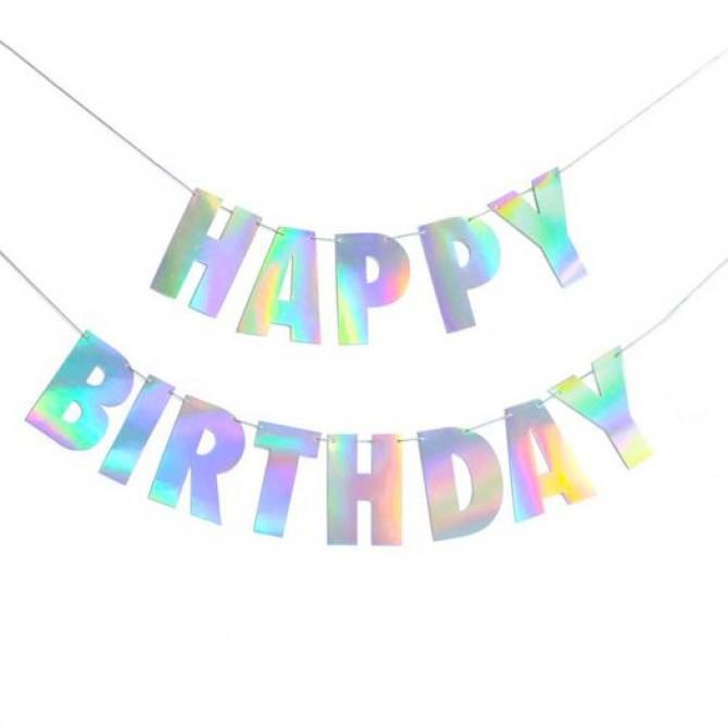 iridescent holographic birthday party