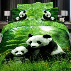 Animal Print Accent Chair Mesh Support Cute Panda Bedding