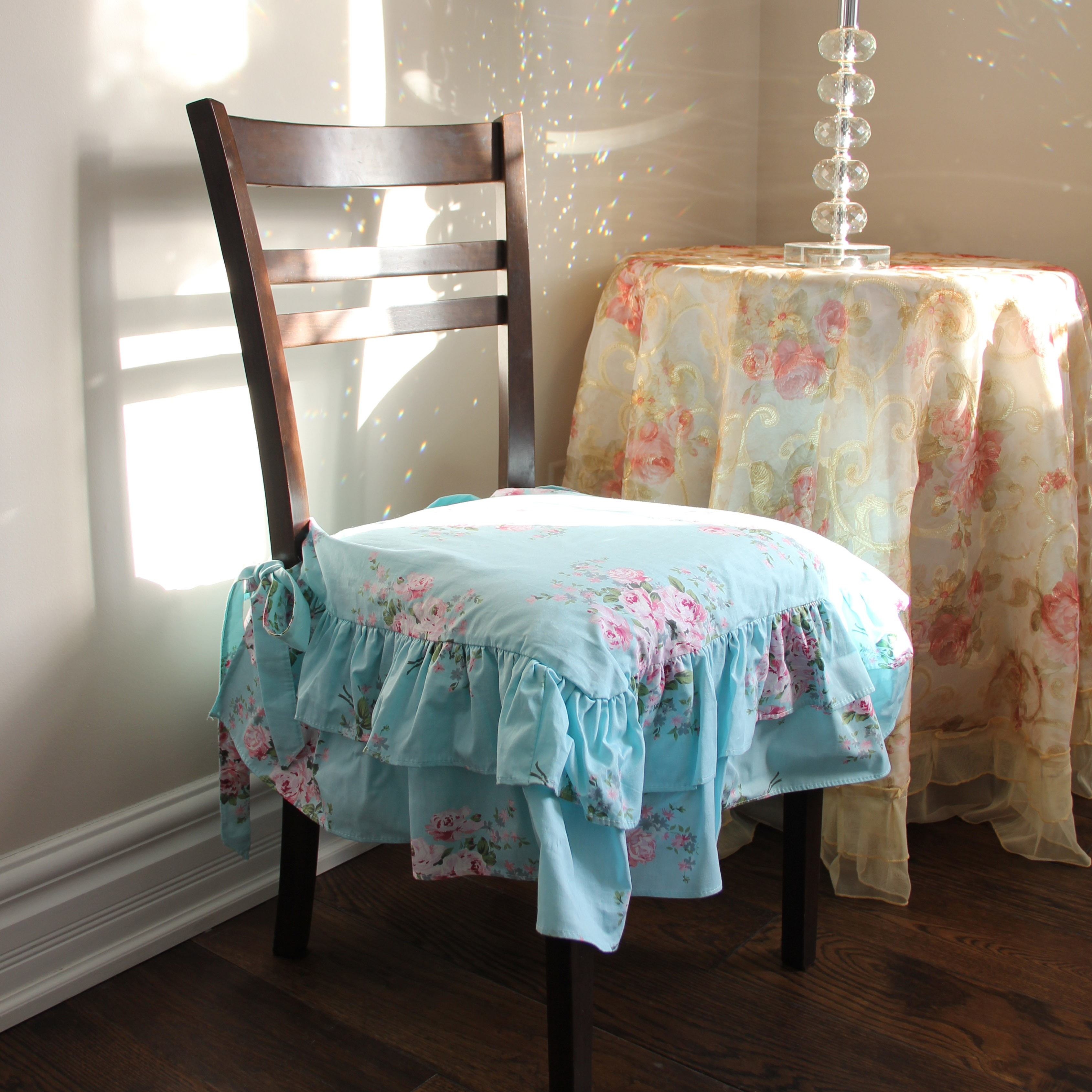 victorian style chair covers tommy bahama beach with footrest cover aqua