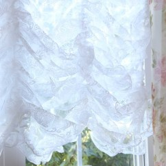 Discount Kitchen Curtains Granite Countertops Cost Damask Balloon Lace Curtain