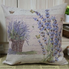 Kitchen Floor Runner Utensils Lavender Cushion Cover
