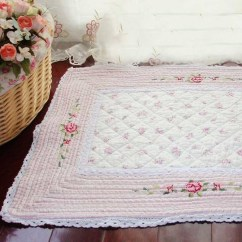 Cotton Kitchen Rugs Sink Light Rose Quilt
