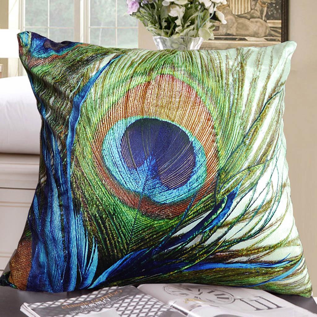 print accent chair eames soft pad executive peacock cushion