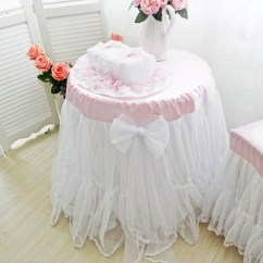 Chair With Shade Canopy Ivory Polyester Covers Lace Tablecloth