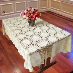 Crochet Christmas Chair Covers Pottery Barn Nursery Reviews Tablecloth