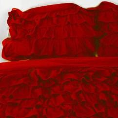 Indoor Kitchen Garden Pantries Red Ruffle Bedding