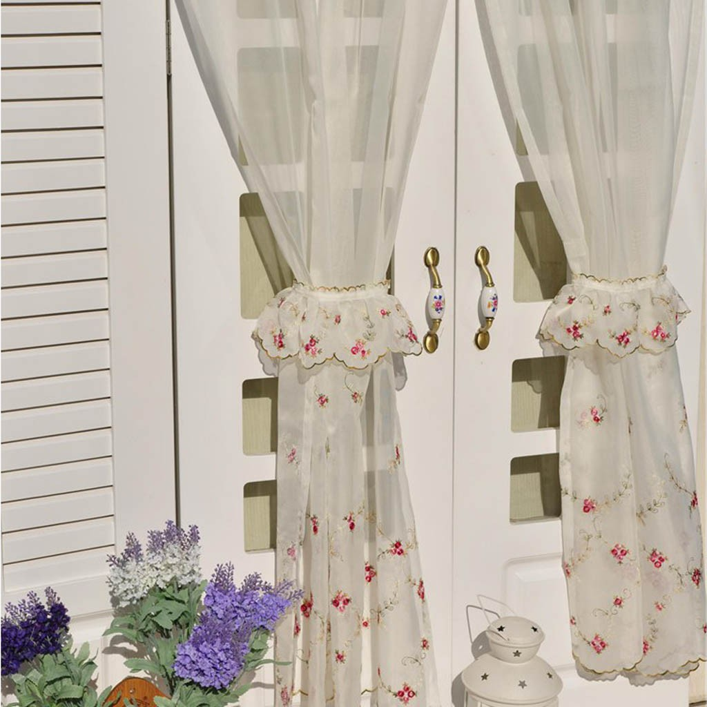 Rose Tiered Curtain