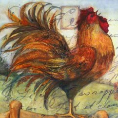 Rooster Kitchen Rugs Pulls For Cabinets Canvas Print