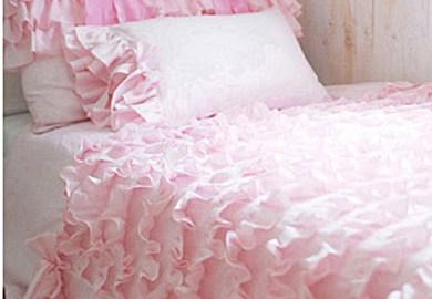 Twin White Ruffle Bedding
