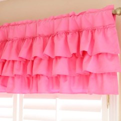 White Kitchen Curtains Unfinished Discount Cabinets Ruffle Curtain