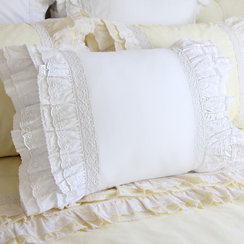 lace love pillow sham white