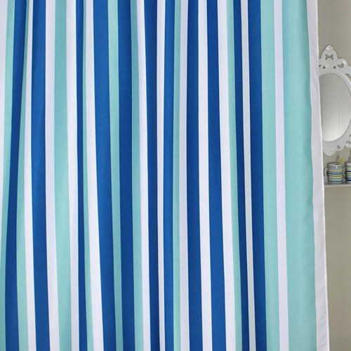 rugs in living room quality chairs blue stripe shower curtain
