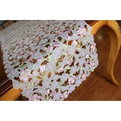 Kitchen Valance Patterns Toy Hauler With Outdoor Luxury Embroidered Cutwork Handmade Pastel Table Runner ...