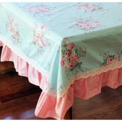 Chair Floor Mat Foldable Wooden Chairs Blue Rose Ruffle Tablecloth - Tabletop