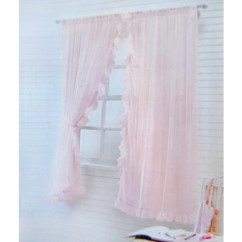 Kids Chair Set Modern Office Ruffle Chic Sheer Curtain