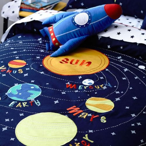 kids accent chair racing car office solar system bedding