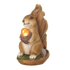 Light Furniture For Living Room Couch Small Squirrel Solar Garden Statue Acorn